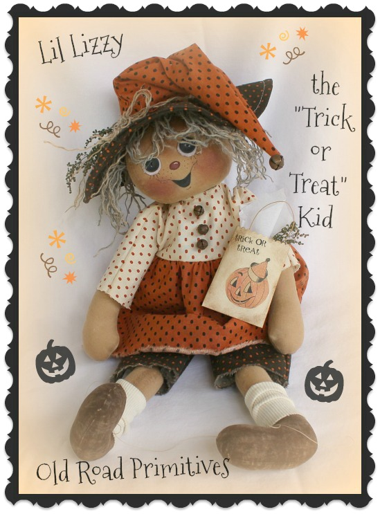 #ORPF188 Lil Lizzy the Trick or Treat Kid Pattern