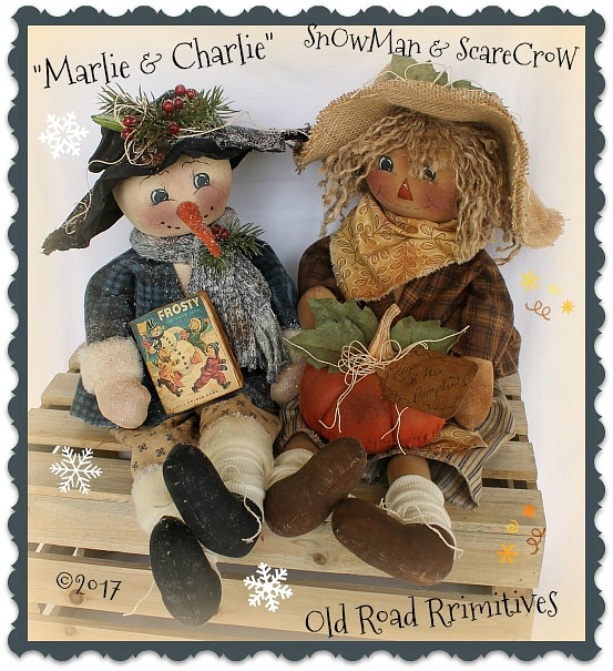 #ORPC311 Marlie & Charlie Snowman & Scarecrow Pattern
