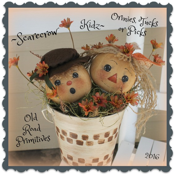 #ORPP ***NEW*** Scarecrow Kidz Ornies, Tucks or Picks Pattern