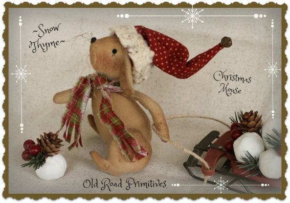 #ORPC266 Snow Thyme Christmas Mouse Pattern