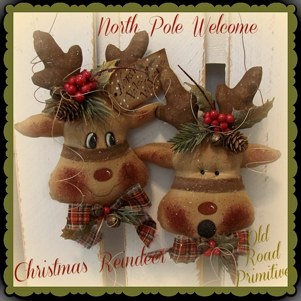 North Pole Welcome Christmas Reindeer Pattern