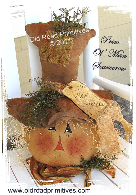 Prim Ol' Man Scarecrow Pattern
