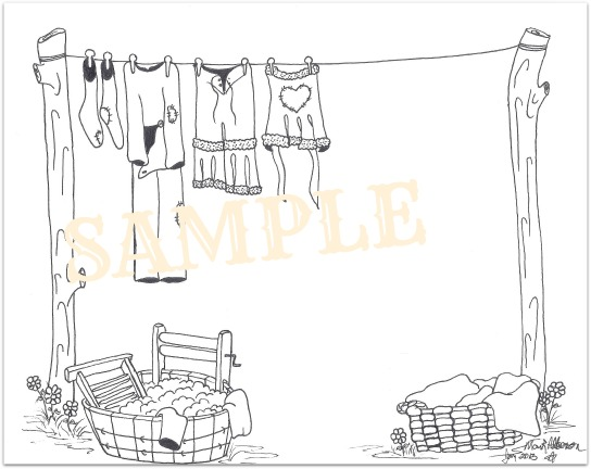 ***NEW*** Vintage Farmhouse Clothesline Printable Image-vintage,laundry,clothesline,image,clipart,graphics,Old Road Primitives,patterns,