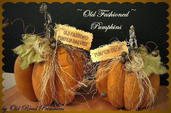 Old Fashioned Pumpkins Pattern