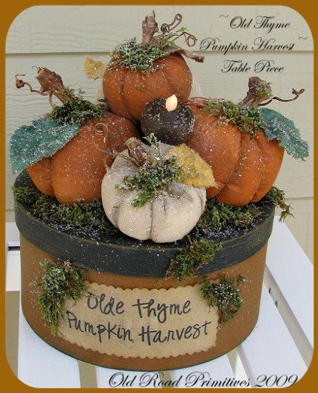 Olde Thyme Pumpkin Harvest Table Piece Pattern