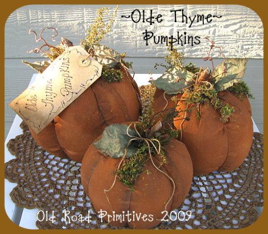 Olde Thyme Pumpkins Pattern