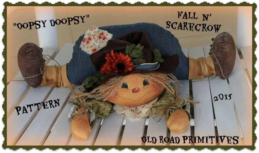 ***NEW*** Oopsy Doopsy Fall N' ScareCrow Pattern