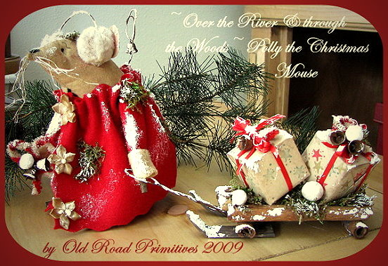Over the River & through the Woods Polly the Christmas Mouse Pattern