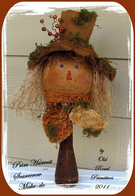 Prim Harvest Scarecrow Make-do Pattern