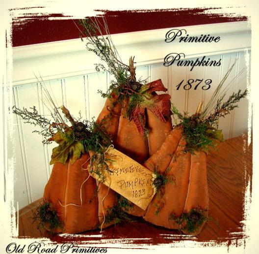 Primitive Pumpkins 1873 Pattern