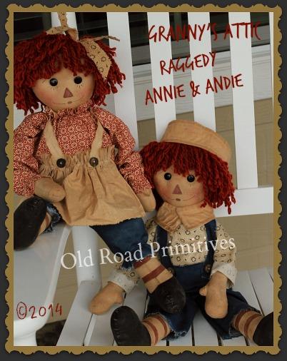 Granny's Attic Raggedy Annie & Andie Raggedy Pattern