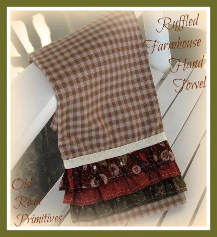 Ruffled Farmhouse Hand Towel Pattern