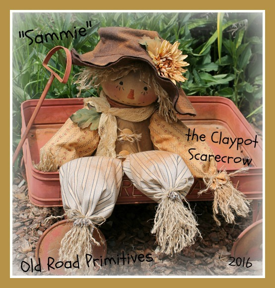 #ORPP ***NEW*** Sammie the Prim Claypot Scarecrow Pattern