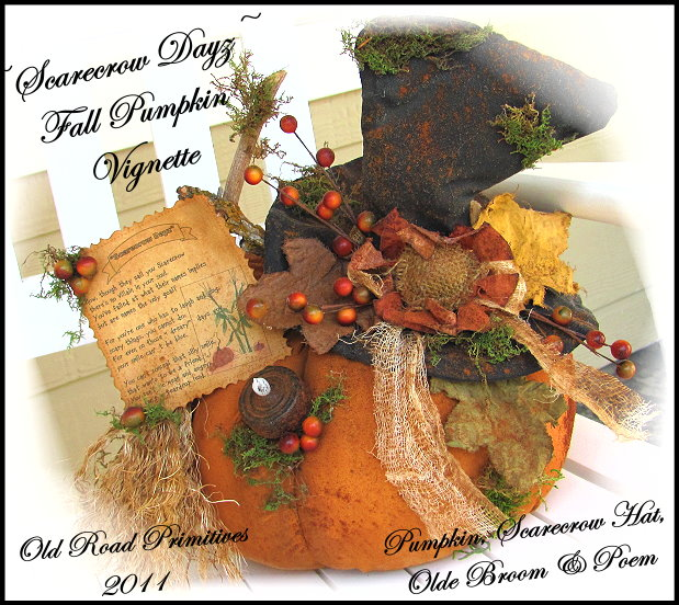 Scarecrow Dayz Fall Pumpkin Vignette Pattern