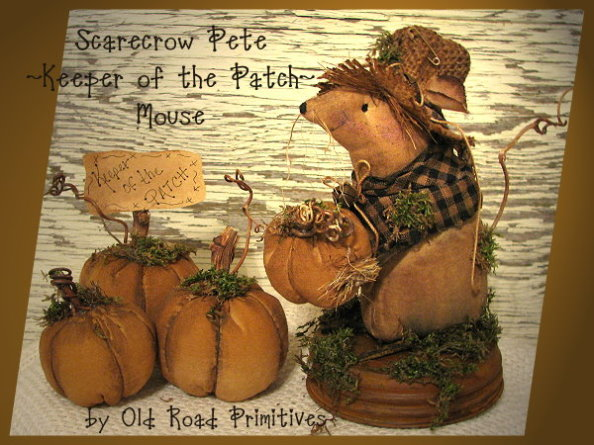 Scarecrow Pete Keeper of the Patch Mouse Pattern