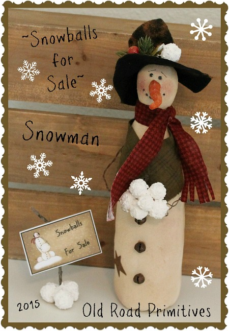 #ORPC257 Snowballs for Sale Snowman Pattern