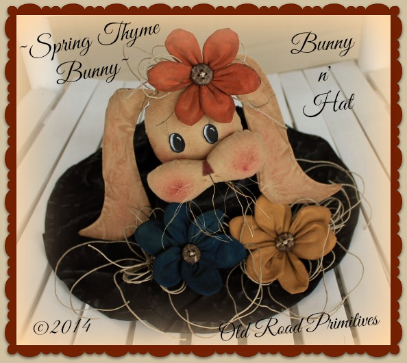 ***NEW*** Spring Thyme Blessings Bunny n' Hat Pattern-Easter,Bunny,Easter Hat,Spring,Flowers,ePattern,Craft Pattern,Pattern,