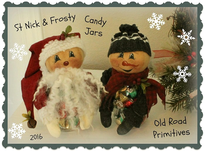 St Nick & Frosty Candy Jars Pattern