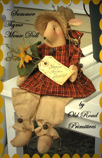 Summer Thyme Blessings Mouse Doll Pattern