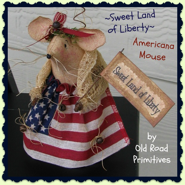 Sweet Land of Liberty Americana Mouse Pattern