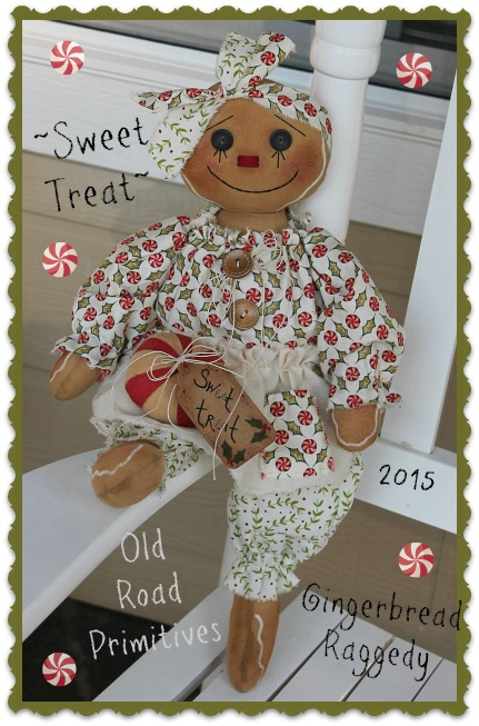 Sweet Treat Gingerbread Raggedy Pattern