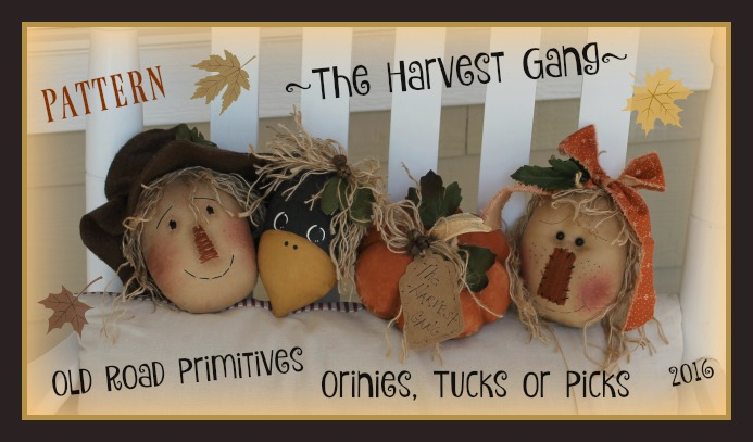 The Harvest Gang Ornies Pattern