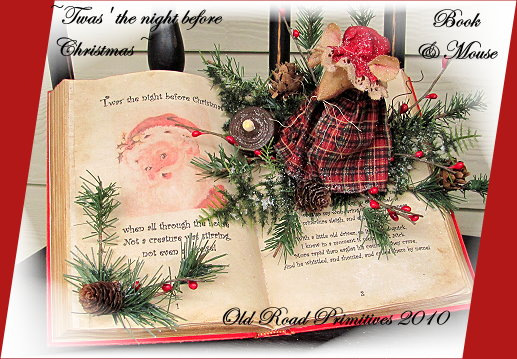 Twas' the night before Christmas Book & Mouse Pattern