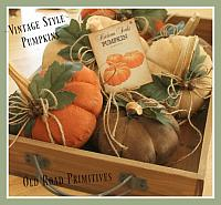 #ORPP ***NEW*** Vintage Style Table Top Pumpkins Pattern