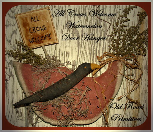 ALL CROWS WELCOME Watermelon Door Hanger Pattern