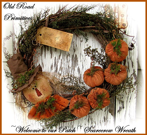 Welcome to our Patch Scarecrow & Pumpkins Wreath Pattern