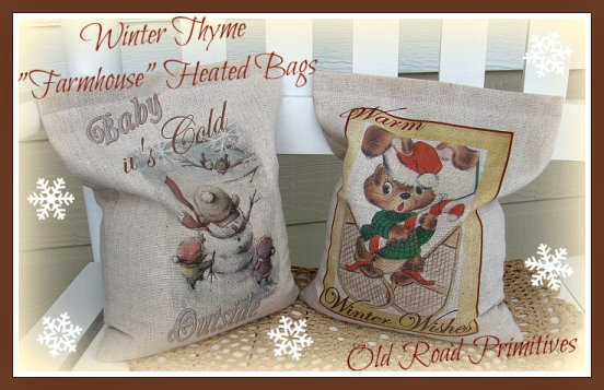 Winter Thyme Farmhouse Heat Bags Pattern