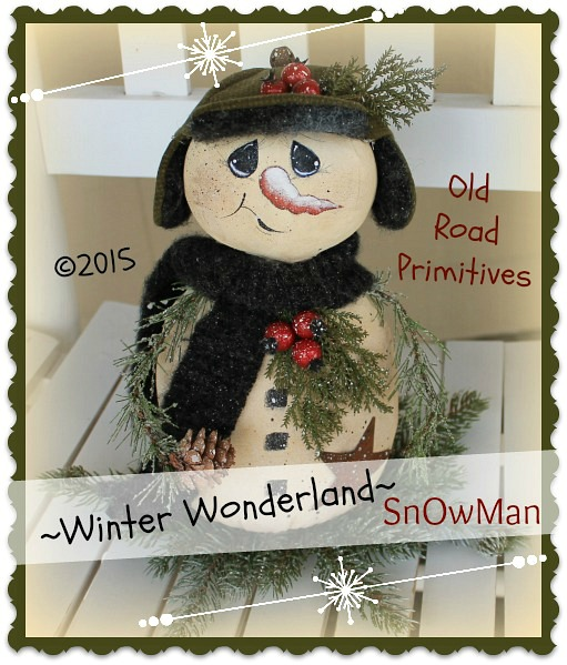 ***NEW*** Winter Wonderland Snowman Pattern
