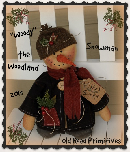 Woody the Woodland Snowman Pattern